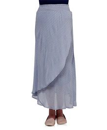 Oxolloxo Printed Maternity Maxi Skirt - Blue