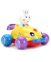Baby Musical Animal Dancing Car - Yellow