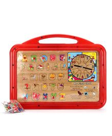 Funworld 3 In 1 ABC Puzzle Slate Shape O Mag Print - Red