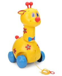 Kids Zone Goody Giraffe Pull Along Toy - Yellow