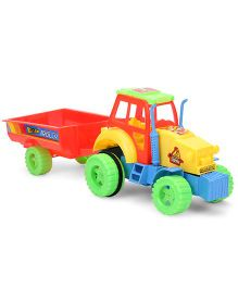 Kids Zone Nissan Tractor Trolley - Yellow And Red