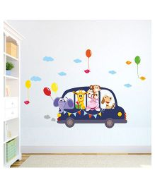Chipakk Animals Car Ride HD Wall Decal - Multi Color