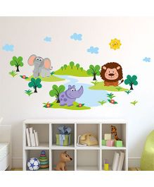 Chipakk Happy Animals Island HD Wall Decal - Multi Color