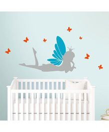 Chipakk Thinking Fairy HD Wall Decal - Blue And Grey