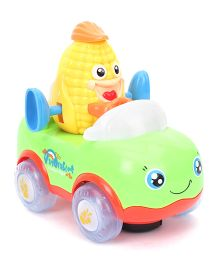 Baby Musical Toy And Corn Driving Car - Green And Yellow