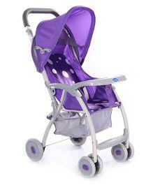 Pram Cum Stroller - Purple