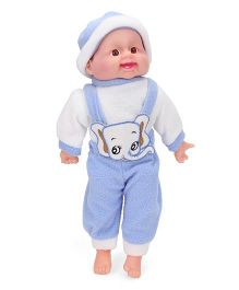 Smiles Creation Laughing Doll Blue - Height 34 cm