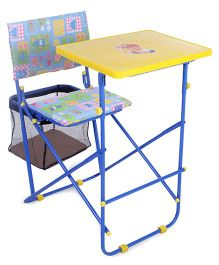 Mothertouch Educational Desk - Yellow & Blue