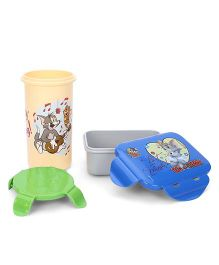 Tom And Jerry Lunch Box And Tumbler - Cream and Grey