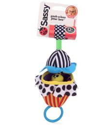 Sassy Peek-A- Boo Jitter Bee Multicolour - 10 Inches