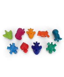 Sassy Snap And Squirt Sea Creature Bath Toys Pack of 9 - Multicolour