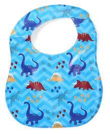 Labybug Bib Dinosaur Print - Blue