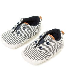 Little Hip Boutique Monochrome Slip Ons - Black & White