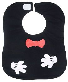 Little Hip Boutique Bow Waterproof  Bib - Black and Red