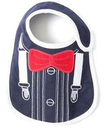 Little Hip Boutique Suspender Print Bib - Blue