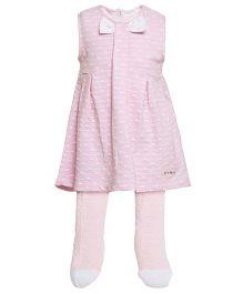 FS Mini Klub Dress With Tights - Pink