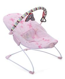 Mastela Soothing Vibrations Bouncer Flower Print - Pink
