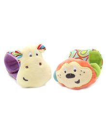 Winfun Little Pals Wrist Band Rattle Multicolor - Pack Of 2