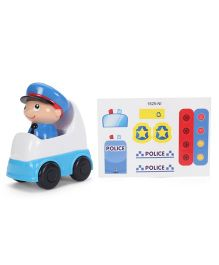 Winfun Police Figure With Vehicle - Blue White