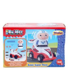 Winfun I - Builder Super Raze Figurine With Car - Red And White