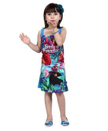 Angry Birds Printed Sleeveless Frock - Blue