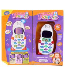 Toymaster Aptitude Learner Phone - White And Red