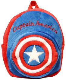 Kiwi Infant Backpack Captain America Print Blue and Red - 10 Inches