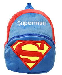 Kiwi Infant Backpack Superman Print Blue and Red - 10 Inches