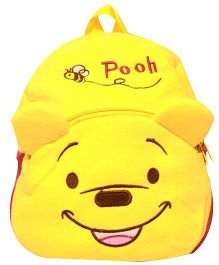 Kiwi Infant Backpack Pooh Print Yellow - 10 Inches