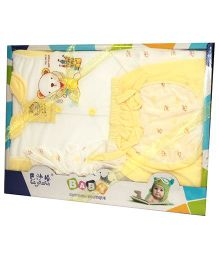 Kiwi Baby Gift Set Teddy Print Yellow - 5 Pieces