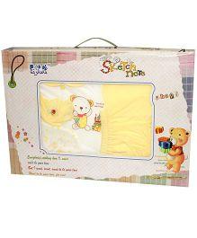 Kiwi Baby Gift Set Teddy Print Yellow - 6 Pieces