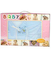 Kiwi Baby Gift Set Baby Print Blue - 6 Pieces
