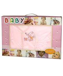 Kiwi Baby Gift Set Baby Print Pink - 6 Pieces