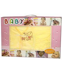 Kiwi Baby Gift Set Baby Print Yellow - 6 Pieces
