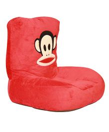 Kiwi Plush Seat Monkey Face Print - Red