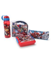 Spider Man School Kit Red - Pack of 4