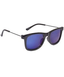 Spiky Wayferer Sunglasses With Case - Black and Blue