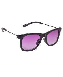 Spiky Wayferer Sunglasses With Case - Black and Violet