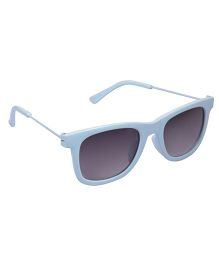 Spiky Wayferer Sunglasses With Case - Blue and Grey