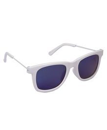 Spiky Wayferer Sunglasses With Case - White and Blue