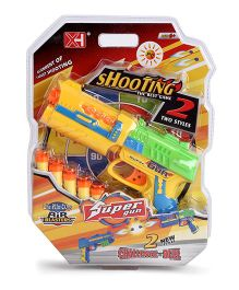 Playmate Toy Gun With Bullets - Green And Yellow
