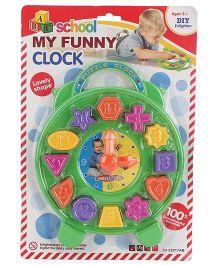 Playmate School My Funny Clock Shape Sorter - Multicolor
