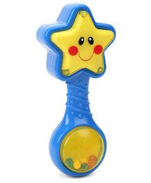 ABC Star Rattle with Light Blue Yellow - 14 cm