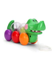 ABC Pull Along Crocodile Toy - Multicolor