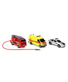 Dickie SOS Vehicle Set of 3 - Red Yellow White