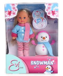Evi Love Doll And Snowman Multicolor - 5 Inches