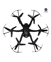 Emob 4 Channel Gyro Hexacopter Quadcopter Drone With Radio Transmitter Receiver And Camera - Black