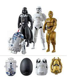 Emob Egg Force Star Wars Super Hero Action Figure Set White Black Golden - 6 Inches