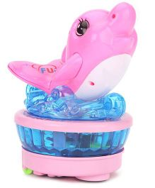 Playmate Musical Dolphin With Light Projection - Pink And Blue