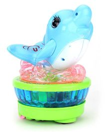 Playmate Musical Dolphin With Light Projection - Blue Green